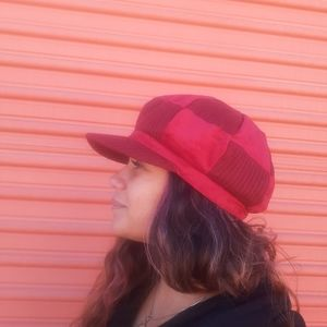 NEW Ruby Red Flop Hat Paperboy Caps Boho Punk Chic
